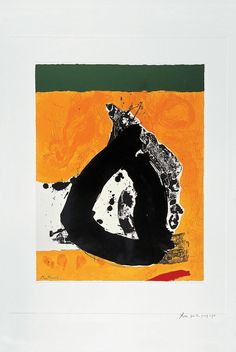 Robert Motherwell / found on www.gallery / The Basque Suite: Untitled, 1971 / Screenprint Pablo Picasso, Abstract Expressionism, Abstract Art, Robert Motherwell, Modern Art, Contemporary Art, New Art, Cool Art, Opera