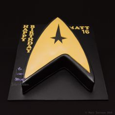 - I went boldly where I have never been before with this Star Trek cake....