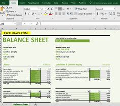 Ebalance Sheet A Template A Standard Company Balance Sheet Has