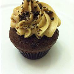 Chocolate kaluha cupcake with hazelnut ganache espresso buttercream and chocolate cookie crumble