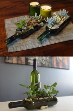 diy-old-wine-bottle-crafts #winebottlecrafts