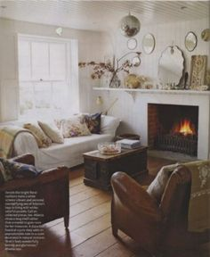 atlanta bartlett taught me that yes, you can mix dark brown leather and white/shabby chic