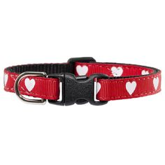 "True Love Cat Collar with bell  True love goes 'round and 'round! The True Love cat collar features white hearts on bright red, with breakaway buckles for your cat's safety. Not to be used with a leash. Kitten size fits necks 5""-8"". Standard size fits necks 7""-10"" . Lion size fits 9""-12"""