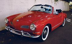 1968 Volkswagen Karmann-Ghia Convertible. Bought this in 67 after I blew the trans on the MG and was having a hard time finding a 4 speed.