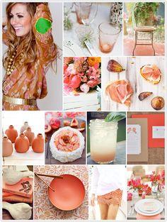monochromatic monday, caramel, coral, watermelon, cake, lemonade, flowers, pinks