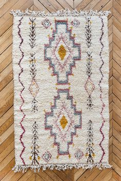 Vintage Moroccan Wool Rug The Sloan Beni Ourain by LoomAndField