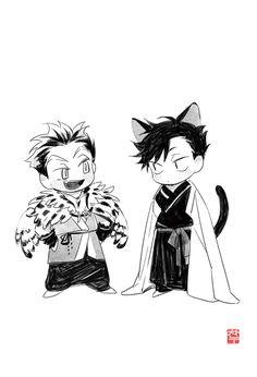 고양이와 부엉이!