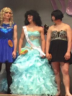 Boy Turns Into Girl, Womanless Beauty Pageant, Beauty Contest, Looking Gorgeous, Beautiful, Pageant Dresses, Pretty Dresses, Strapless Dress Formal, Girl Outfits