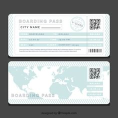 Boarding Pass Invitation Template Free Fresh Striped Boarding Pass Template with Blue World Map Vector Invitation Ticket, Boarding Pass Invitation, Boarding Pass Template, Ticket Template, Passport Template, Printable Tickets, Printable Invitations, World Map Vector Free, Around The World Theme