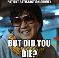 What nurses think about Patient Satisfaction Surveys. #nurse #humor