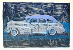 Frank Romero - Blue Chevy Lowrider 1