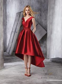 Elegant V Neck Satins Asymmetrical Hem Mini Gown Cocktail Party Prom Dresses Cocktail Bridesmaid Dresses, Red Wedding Dresses, Gala Dresses, Cocktail Gowns, Prom Party Dresses, Homecoming Dresses, Cute Dresses, Short Dresses, Formal Dresses