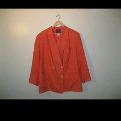 Andrea Viccaro orange blazer Size 20 plus size Andrea Viccaro blazer in a vibrant orange color Andrea Viccaro Jackets & Coats Blazers
