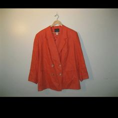 Andrea Viccaro orange blazer Size 20 plus size Andrea Viccaro blazer in a vibrant orange color Andrea Viccaro Jackets & Coats Blazers