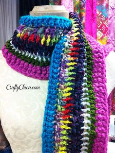 Crafty Chica Chunky Crochet Scarf VIVA LA VIDA by craftychica, $39.99
