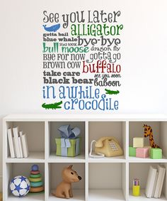 'See You Later' Wall Decal by DecorDesigns #zulily #zulilyfinds