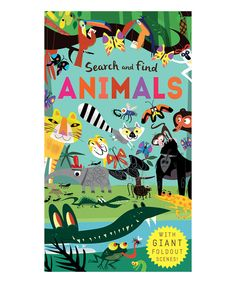 'Search and Find Animals' Hardcover Book by Silver Dolphin Books #zulily #zulilyfinds