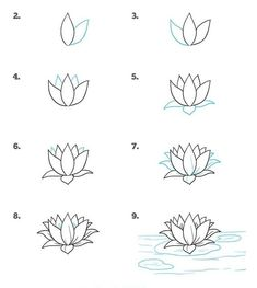 Flower Drawing Discover 1001 ideas and tutorials for easy flowers to draw pictures how-to-draw-a-water-lilly-simple-rose-drawing-step-by-step-diy-tutorial Realistic Flower Drawing, Simple Flower Drawing, Easy Flower Drawings, Beautiful Flower Drawings, Flower Drawing Tutorials, Pencil Art Drawings, Doodle Drawings, Easy Drawings, Drawing Flowers