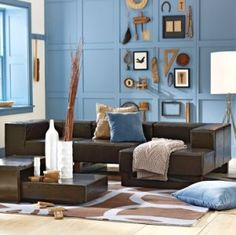 Coastal Decor Living Room Colors Blue Brown And