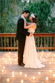 Bride and groom with candles // see more on thesocalbride.com