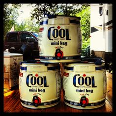 Ready for the weekend with the Cool mini kegs!