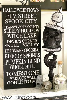 DIY Halloween Skull - love this vintage craft that was made from scraps! #halloween