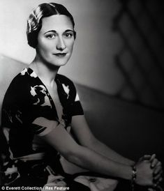 Wallis Simpson - Duchess of Windsor, wife to King Edward VIII and said to be a Nazi spy.