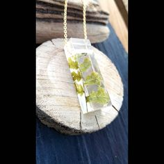 Fern Block Pendant, Ireland Handmade Goodluck Wealth, Magical Gift for her, Preserved leaf / Sterling / gold WAW plants Fern Tattoo, Ferns Garden, Eco Resin, Boho Bride, Natural Materials, Preserves, Inventions, Wealth, Ireland