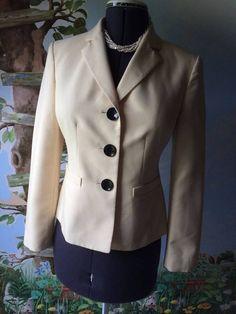 Le Suit Separates Women Light Yellow Long Sleeve Blazer Suit Jacket SZ 6 #LeSuit #Blazer