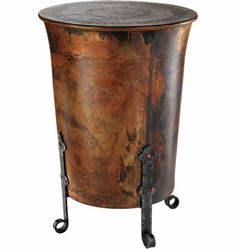Round Rivet Barrel Stool Copper By C.G. Sparks. $96.48. Antique Copper  Finish. Steel Construction. Color: Copper FinishMaterials: Steel Style: Stou2026
