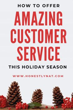 Not sure how to improve your customer service this holiday season for your online shop?  Check out these easy ways to offer amazing customer service this holiday season.  Your customers will thank you!  #customerservice #etsyshop #onlinebusiness #holidaymarketing