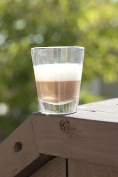 A Year of Cocktails: First Down Shot - chai creme liqueur, godiva white chocolate liqueur