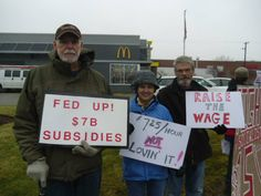 NH Labor Supports Rally At McDonalds For Higher Wages