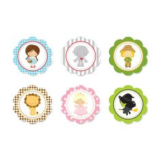 PRINTABLE Dorothy/Wizard of Oz Party Circles di DaysignsbyDay