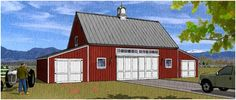 Barn Plans, Country Garage Plans and Workshop Plans - Order practical barn blueprints, car barn plans with lofts and optional add-on garages, carports, storage spaces, greenhouses and workshop areas, horse barn plans, workshop designs and plans for small barns, hobby shops, backyard studios and small animal shelters. Choose from all types of pole-barns, mini-barns and sheds.