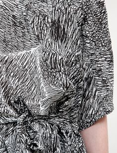 Silk dress, 'Scribble' Print | Fashion + Photography | Design: Anntian |