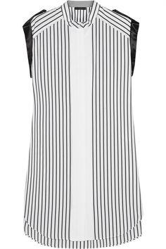 Chatsworth satin-trimmed cotton dress #ClassicsReinvented   styloko.com