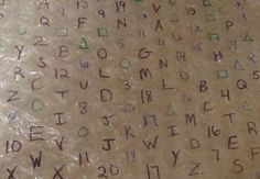 Letter practice with bubble wrap, but can be used for addition practice, sight words, etc. Endless possibilities