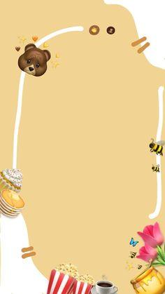 Cute Pastel Wallpaper, Cute Emoji Wallpaper, Bear Wallpaper, Aesthetic Pastel Wallpaper, Creative Instagram Photo Ideas, Instagram Story Ideas, Birthday Post Instagram, Happy Birthday Template, Instagram Frame Template
