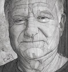 Robin Williams portrait. #robinwilliams #portrait #famous #art #tribute #illustration #face #dead #pencil #drawing #sketch #sketchbook #line #grunge #rip #instagram #blackandwhite #black #monochrome #sad #actor #best #cinema #moviestar #movie