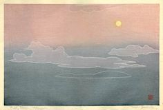 hanga gallery . . . torii gallery: Full Moon, Hawaii by Toshi Yoshida