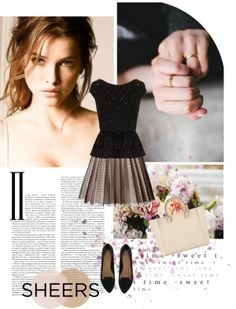"""""""Tricky trend: Sheers"""" by moltoaudrey on Polyvore"""
