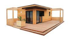 studio de jardin, bureau de jardin, dependance de maison. Chalet en bois habitable RT2012 HLL