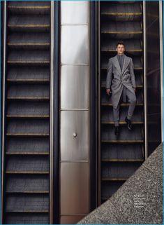 David Trulik Poses in Fall Winter 2016 Looks for Elle Czech