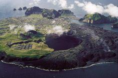 Vestmannaeyjar islands, eldfell volcano. iceland