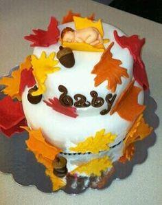 Autumn leaf baby cake :D