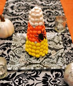 M&M's White Chocolate Candy Corn centerpiece
