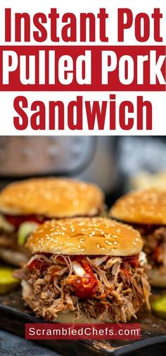 This Instant Pot pulled pork recipe with homemade spice rub is a deliciously easy recipe where the Instant Pot does all the work for you! This is a great beginner easy Instant Pot recipe for anyone who loves pulled pork sandwiches! #InstantPot #PulledPork #BarbecuePorkSandwich #InstantPotPulledPork #IPRecipes Easy Sandwich Recipes, Pork Sandwich, Sandwiches, Barbecue Pulled Pork, Pulled Pork Recipes, Boneless Pork Roast, Pork Nachos, Making Pulled Pork, Homemade Spices