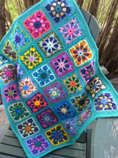 Crocheted BABY afghan blanket kaleidoscope by JansAfghans