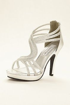 7f42ef46295b5 Take your evening look to the next level with these stunning silver glitter  platform sandals by Touch Ups! Silver glitter strappy platform sandal  features ...